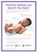 39 Weeks Healthy Babies Are Worth the Wait Baby Development Poster