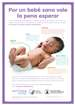 39 Week Healthy Babies are Worth the Wait Baby Development Poster (Spanish)