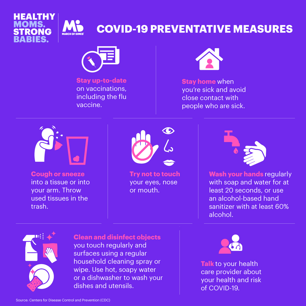 COVID-19 things to prevent
