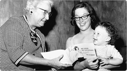 Virginia Apgar, MD, creator of the Apgar Score; 1968