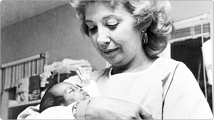 Beverly Sills, National Mothers March Chair; 1984