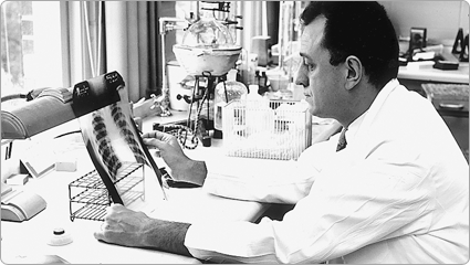 Robert Good, MD, discovered the role of the thymus gland in human immune response and was one of the first to treat birth defects with bone marrow transplants; 1962