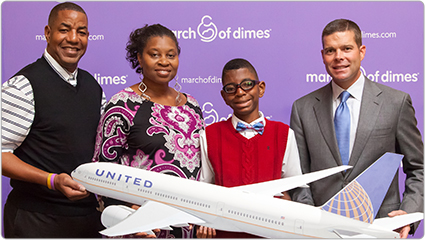 Gallery - United Airlines March of Dimes Officer Leader Campaign image