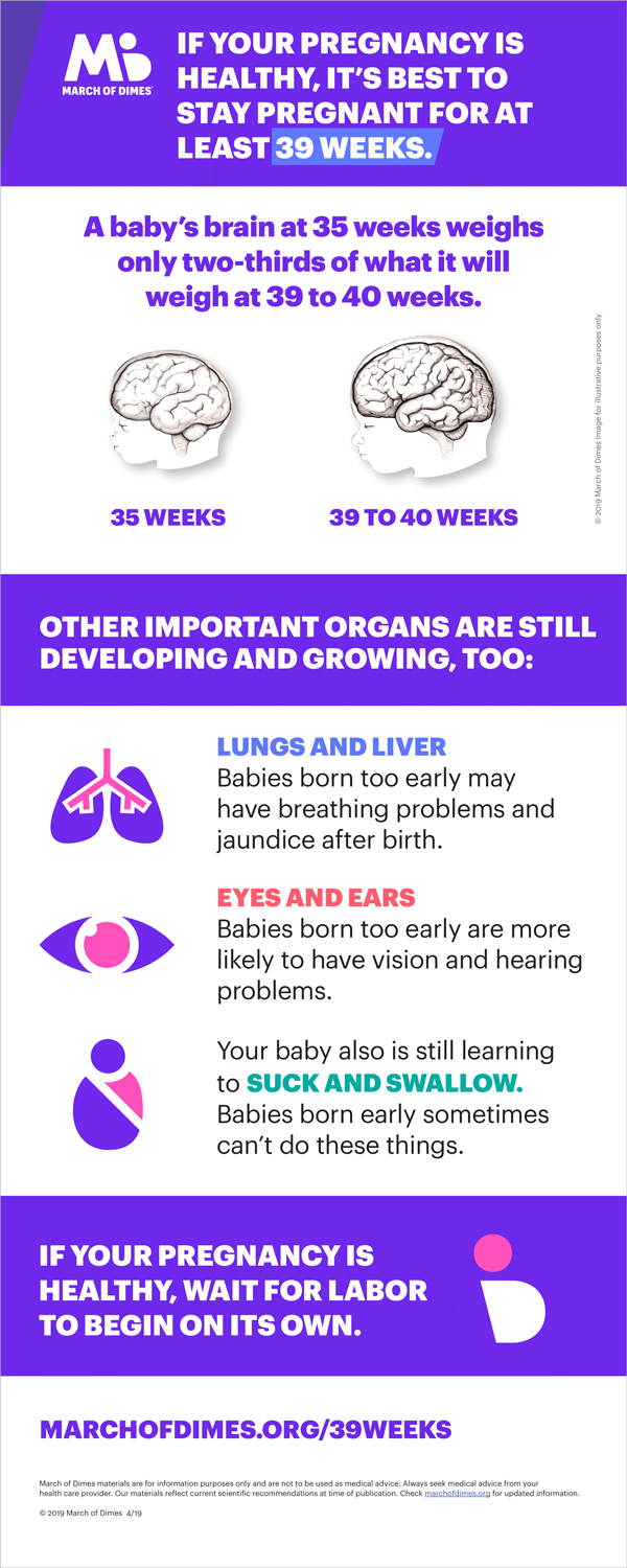 39 weeks infographic | March of Dimes